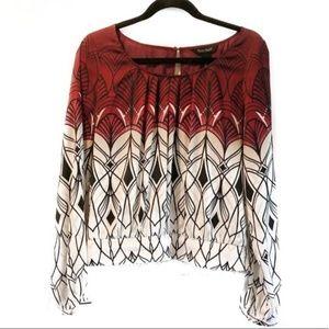 White House Black Market silk blouse size 8